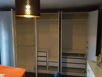 The Modular and Flexible Pax Wardrobe System from Ikea - Assembly in Craig Cefn Parc by Flat Pack Fu