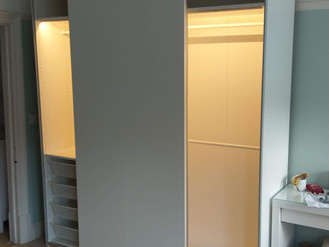 Ikea Pax Wardrobe with Automatic Lights - Assembled in Mumbles, by Flat Pack Swansea