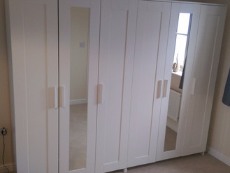 Now that's a BIG one! Walk-in wardrobe and two Brimnes thanks to Ikea. Coed Darcy, Llandarcy, Ne
