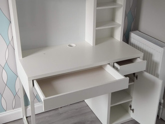 THE IKEA MICKE DESK WITH ADD-ON HIGH UNIT - ASSEMBLED IN MORRISTON, SWANSEA - BY FLAT PACK SWANSEA