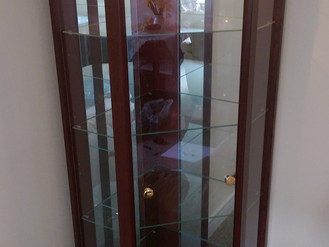 Argos Corner Glass Display Cabinet - Assembled in Sandfields, Port Talbot