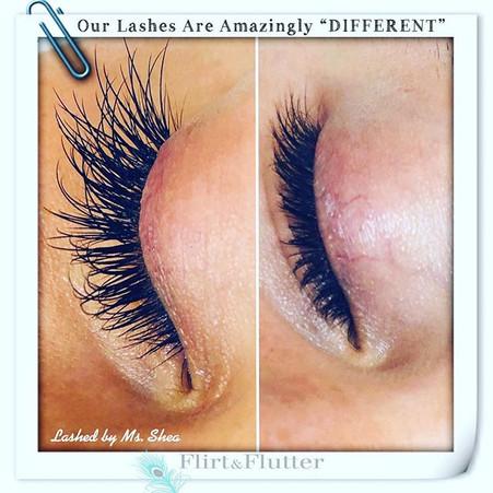 At #flirtnflutter our #eyelashextensions