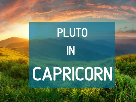 Pluto Stations Direct In Capricorn