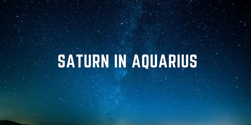 Saturn In Aquarius #astrology