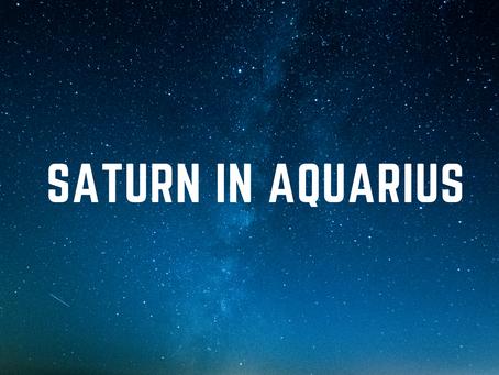 Saturn in Aquarius (March 21)