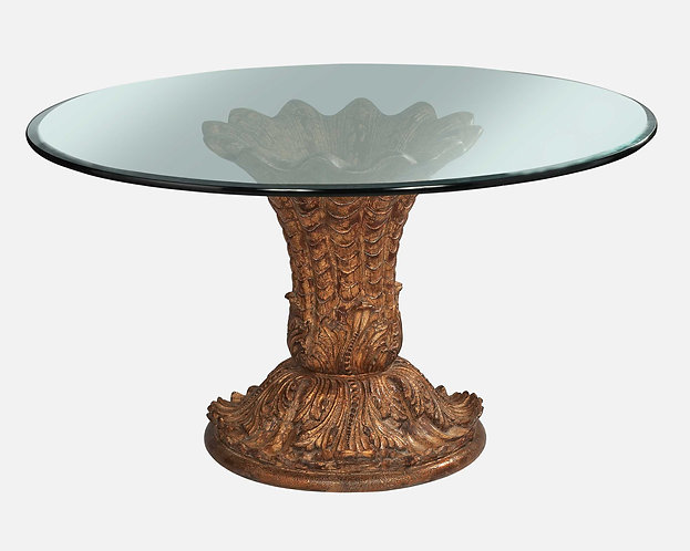 9678 - Dining Pedestal Table (NO GLASS TOP)