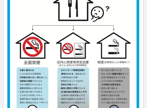 原則屋内禁煙がスタートします