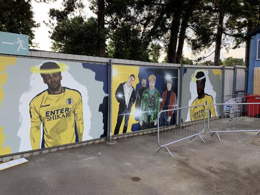 St.Albans FC Murals.