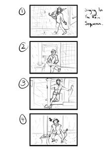 Singing In The Rain Storyboard