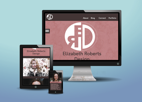 E. R. Design Website Mockup