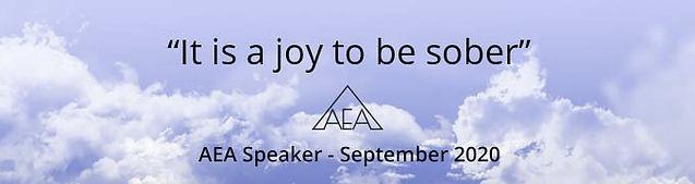 AEA - September 2020 - Claire Speaker Me