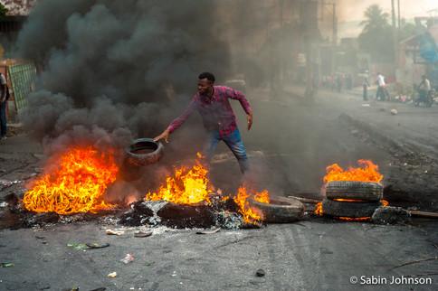 Manifestation_Haïti-Johnson Sabin