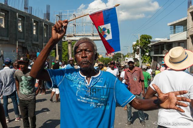 Manifestation _Haïti-Johnson Sabin