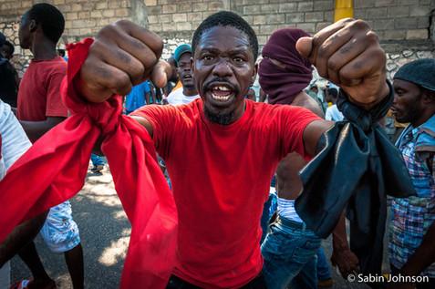 portrait d'un manifestant en Haïti-Johns