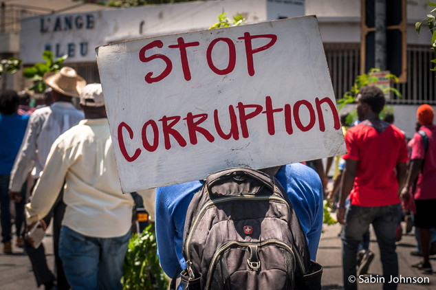 Manifestion  Haïti-Johnson Sabin