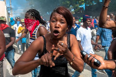 Manifestation Haïti-Johnson Sabin