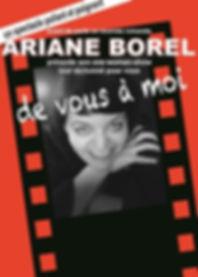 Ariane Borel affiche De vous à moi 2018