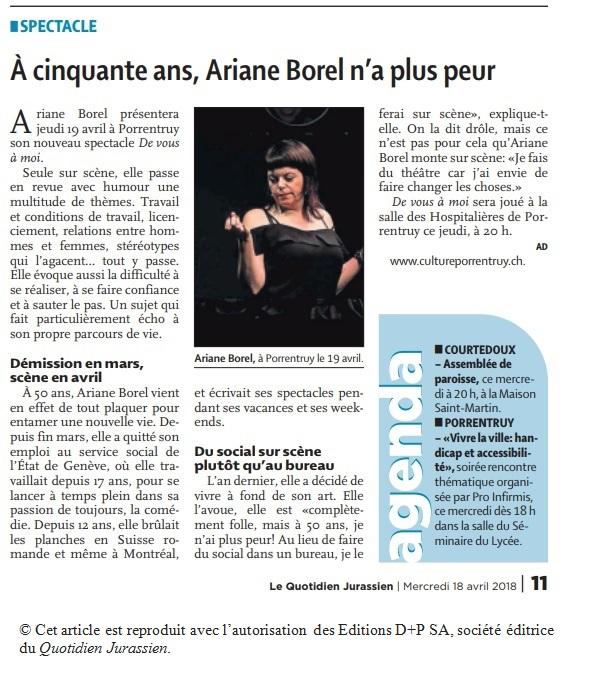 De vous à moi Ariane Borel