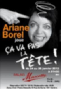 Ariane Borel Affiche Ça va pas la tête