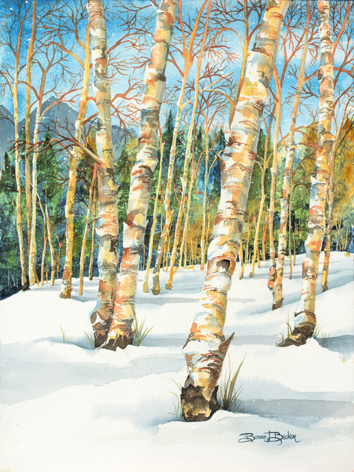 Becker B Winter Serenity 16x12 Watercolo