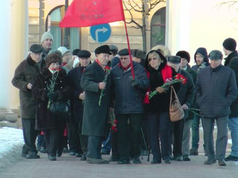 21 января в день памяти В. И. Ленина  коммунисты Центральной районной организации возложили цветы к