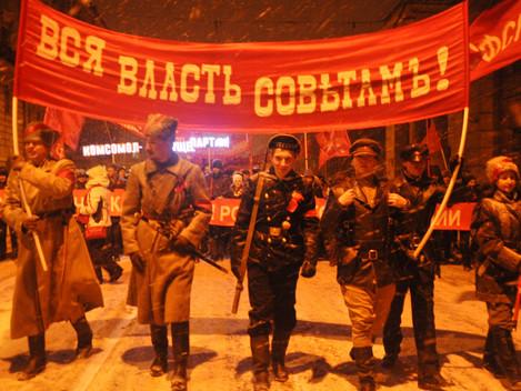 В городе трех революций состоялись праздничные шествие и митинг коммунистов