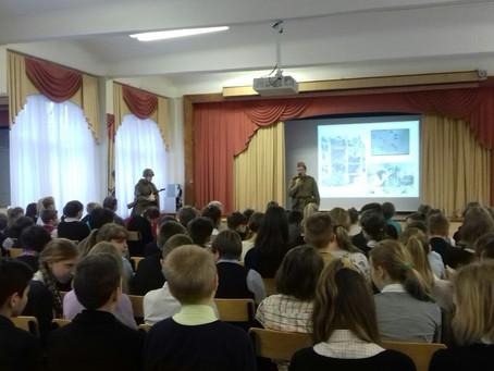 К 73-й годовщине полного освобождения Ленинграда от фашистской блокады, комсомольцы провели урок муж