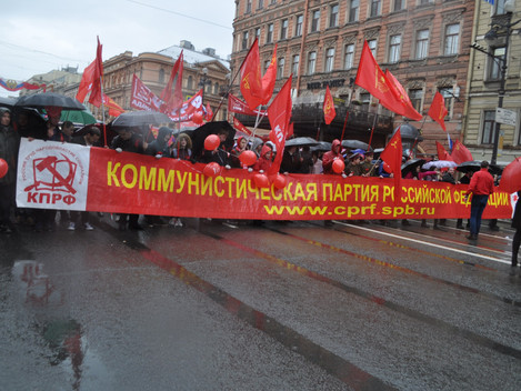 Первомайские шествие и митинг прошли в Ленинграде