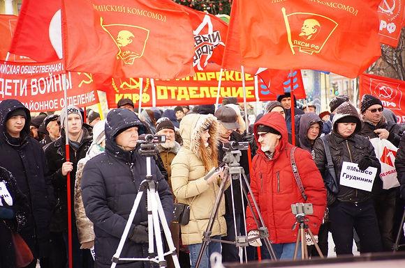 Петербуржцы вышли на митинг против действующей социально-экономической политики