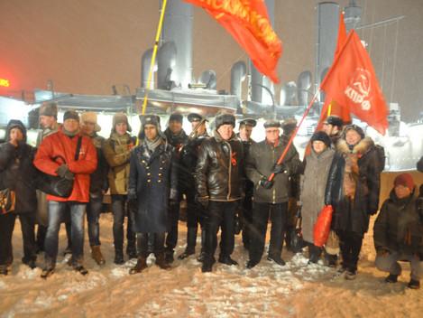 Коммунисты Центрального района отметили день Октябрьской революции
