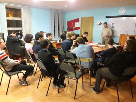 29 сентября состоялось очередное собрание комсомольской первичной организации №1 Центрального района