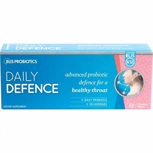 BLIS Probiotics DailyDefence Strawberry Lozenges 30s