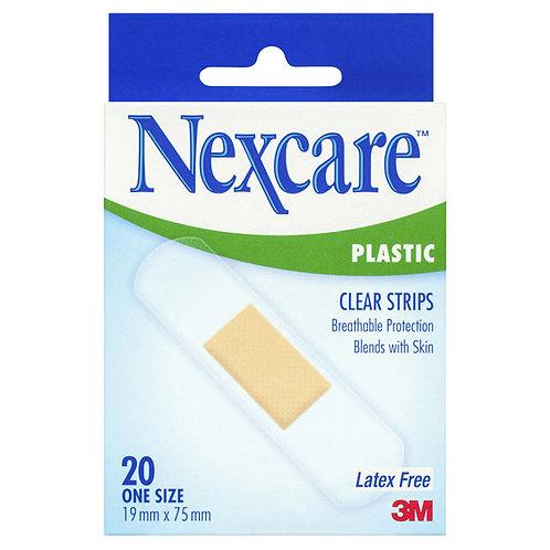 N/C Clear Plastic Strips 20pk