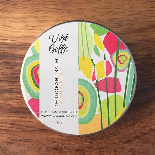 35g Tin: Lively Lemongrass Deodorant Balm