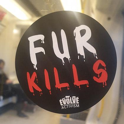 15x Fur Kills Stickers