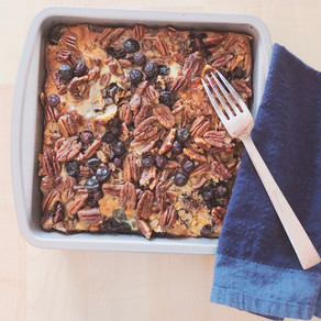 Blueberry Coconut Oatmeal Bake