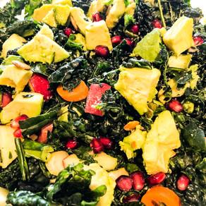 Avocado and Pomegranate Kale Salad