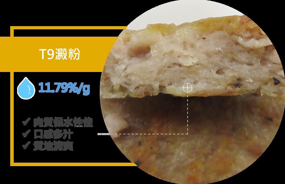 加T9澱粉的肉排