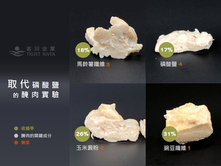 CLEAN LABEL馬鈴薯纖維取代磷酸鹽(食品添加物)的保水新趨勢