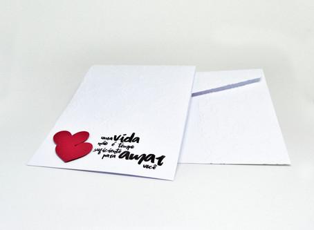 Cartão - Uma vida não é tempo suficiente...