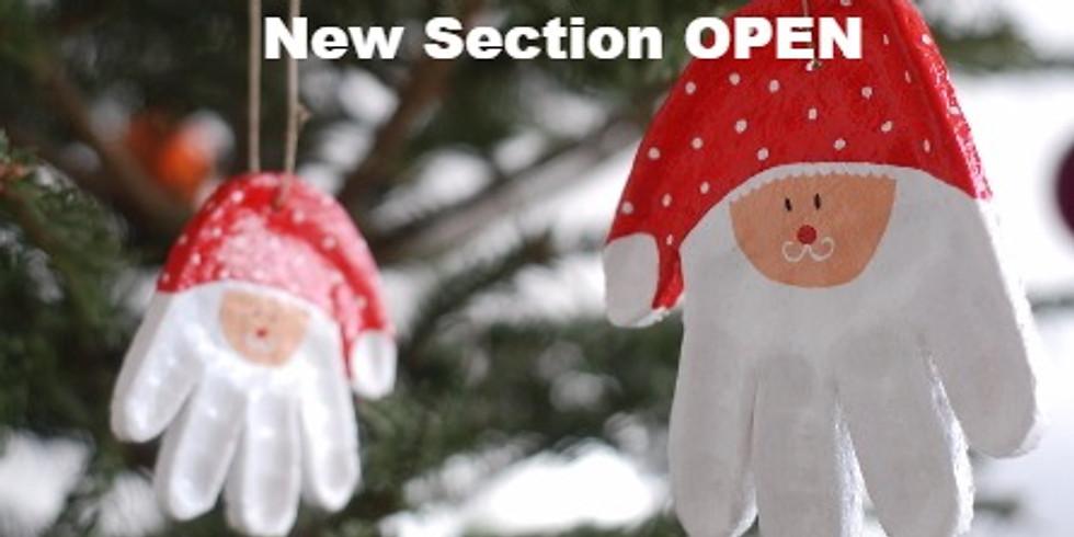 By popular demand: Santa's Handprints, 2nd section