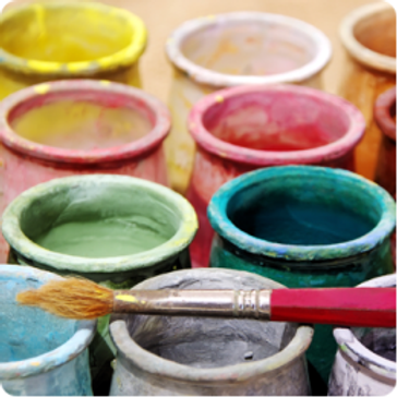 Pottery Painting Party at the Studio