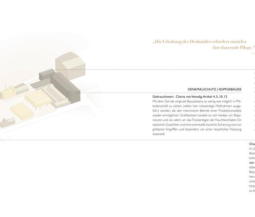 Denkmalpflegerisches Konzept