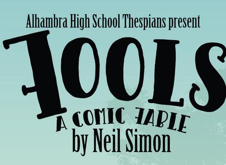 "AHS Thespians to present Neil Simon's ""Fools"" November 8, 9, 15, 16"