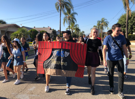 Thespians March in Homecoming Parade