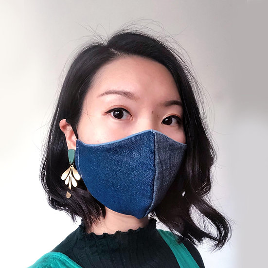 Cotton Face Mask | Denim-look