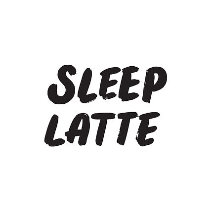 The words _Sleep Latte_ in bold lettering