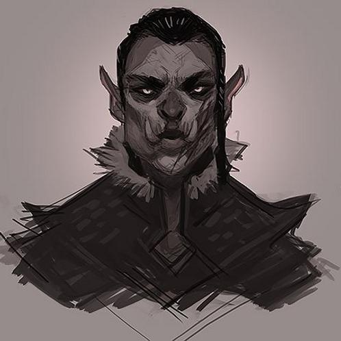 Korthrup, Male Lunali Half-Orc