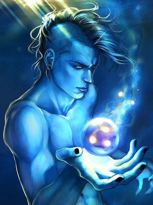 Spaerin, Male Elemental Water Ifrit Djinn