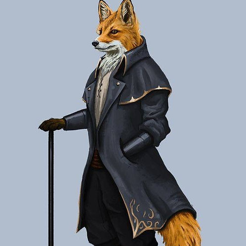 Aspen, Male Red Fox Anthropoid